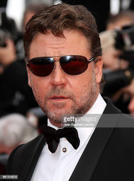 Russell Crowe attends the Opening Night Premiere of 'Robin Hood' at the Palais des Festivals during the 63rd Annual International Cannes Film...