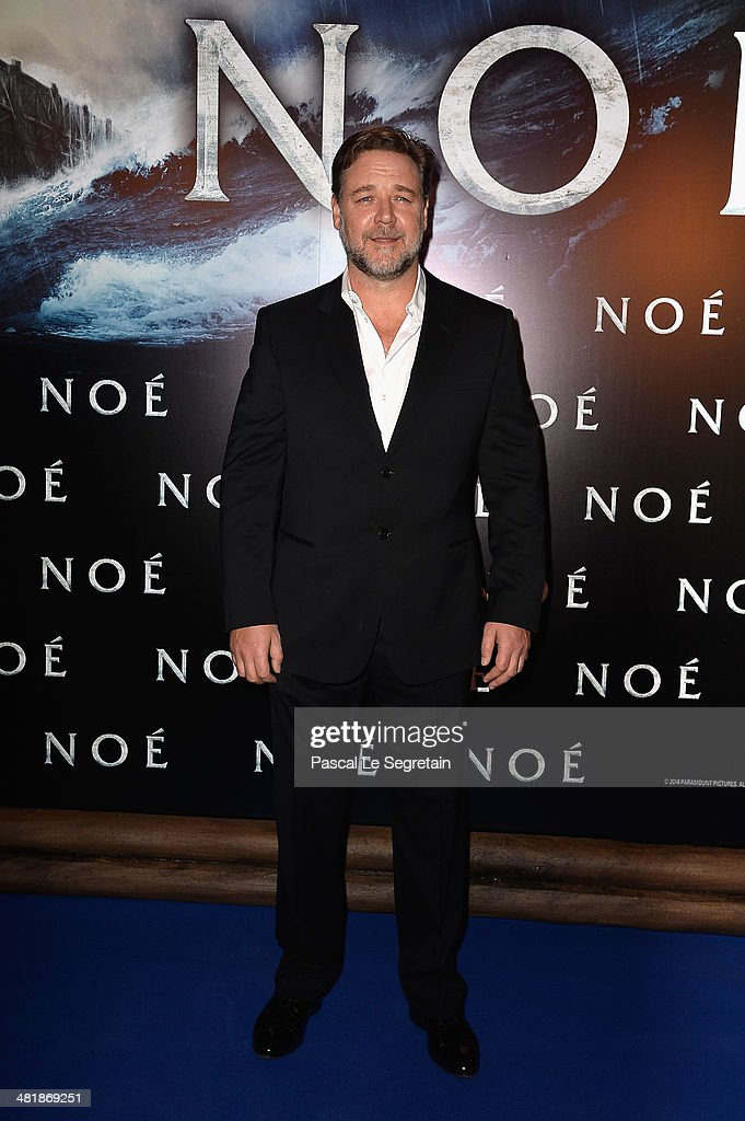 <a gi-track='captionPersonalityLinkClicked' href=/galleries/search?phrase=Russell+Crowe&family=editorial&specificpeople=202609 ng-click='$event.stopPropagation()'>Russell Crowe</a> attends the Paris Premiere of 'NOAH' at Cinema Gaumont Marignan on April 1, 2014 in Paris, France.