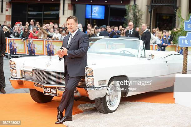 Russell Crowe attends the 'The Nice Guys' UK Premiere at Odeon Leicester Square on May 19 2016 in London England