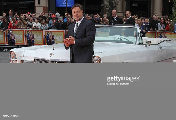 Russell Crowe attends the UK Premiere of 'The Nice Guys' at Odeon Leicester Square on May 19 2016 in London England