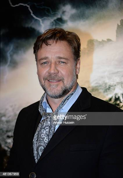 Russell Crowe attends the Welsh premiere of the film 'Noah' at the Cineworld on March 29 2014 in Cardiff Wales