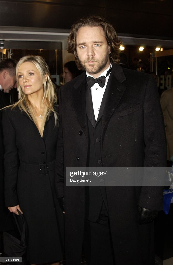 Russell Crowe & Girlfriend Danielle Spencer, The Orange British Academy Film Awards (bafta) 2002, At The Odeon, Leicester Square, London