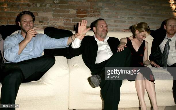 Russell Crowe Harvey Weinstein and Renee Zellweger
