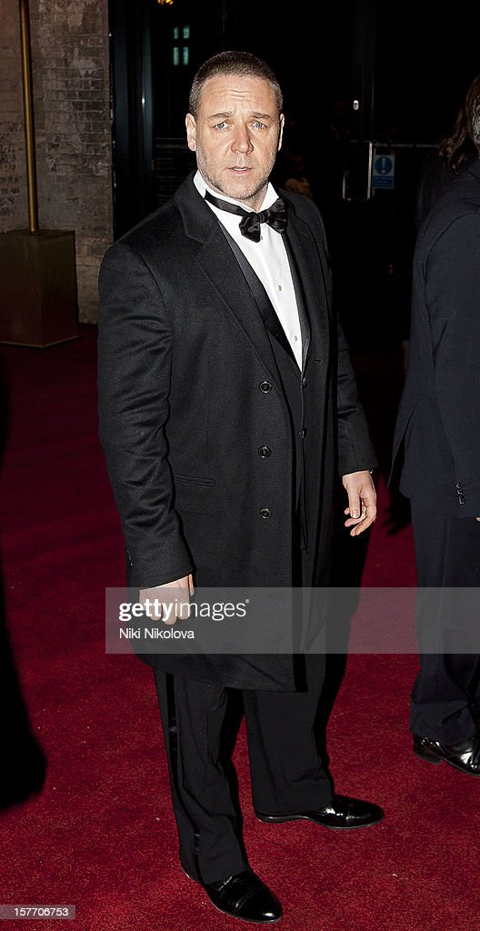 Russell Crowe sighting on December 5, 2012 in London, England.
