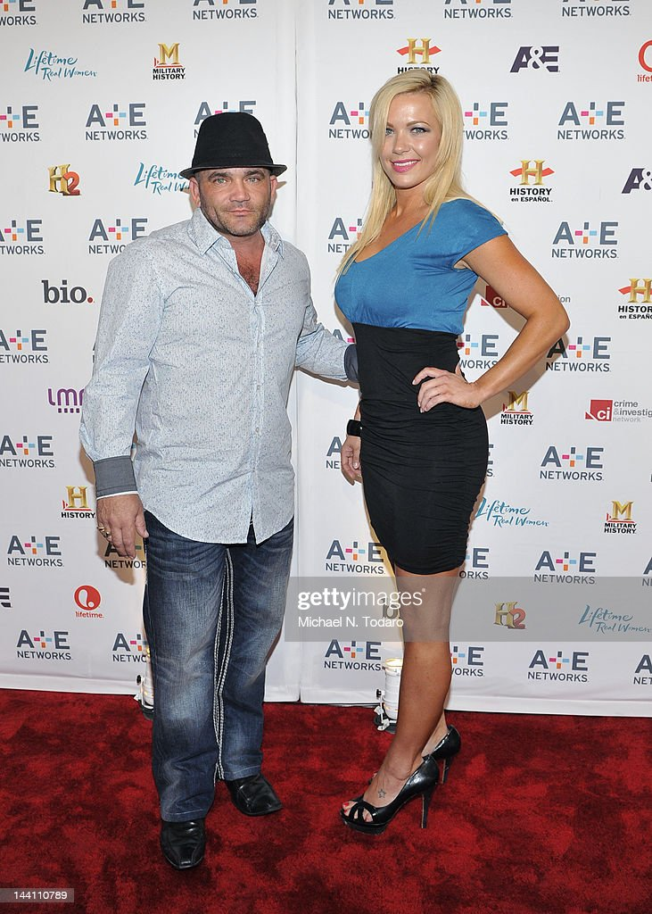 Russell Hantz and Kristen Bredehoeft attend the A+E Networks 2012 Upfront at Lincoln Center on May 9, 2012 in New York City.
