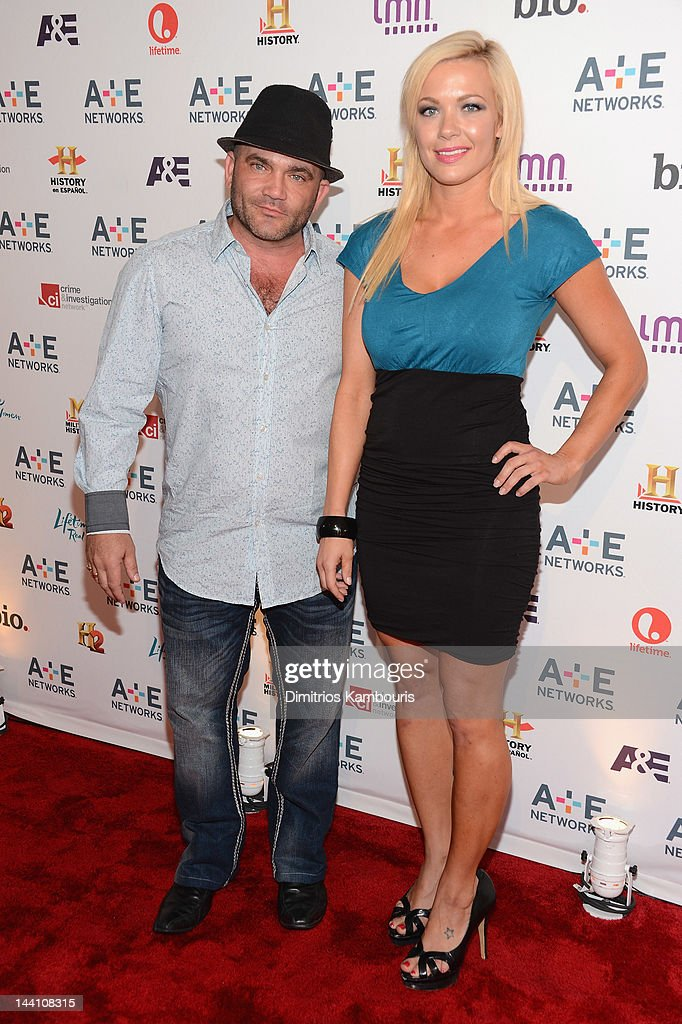 Russell Hantz and Kristen Bredehoeft of Flipped Off attend the A+E Networks 2012 Upfront at Lincoln Center on May 9, 2012 in New York City.