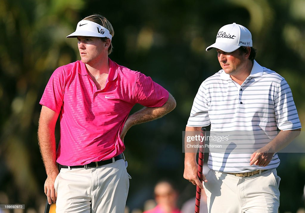 Russell Henley and Tim Clark of South Africa during the final round of the Sony Open in Hawaii at Waialae Country Club on January 13, 2013 in Honolulu, Hawaii.