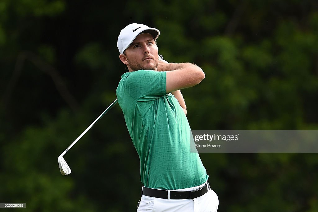 <a gi-track='captionPersonalityLinkClicked' href=/galleries/search?phrase=Russell+Henley&family=editorial&specificpeople=6919717 ng-click='$event.stopPropagation()'>Russell Henley</a> hits his tee shot on the third hole during a continuation of the first round on April 29, 2016 in Avondale, Louisiana.