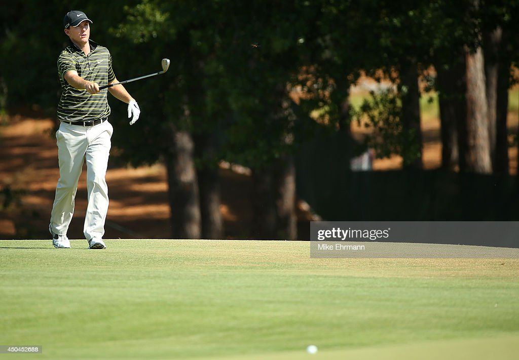 Russell Henley of the United States walks to a green during a practice round prior to the start of the 114th U.S. Open at Pinehurst Resort & Country Club, Course No. 2 on June 11, 2014 in Pinehurst, North Carolina.