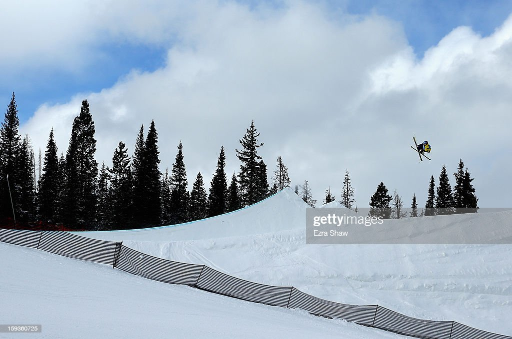 Russell Henshaw of Australia competes in the FIS Freestyle Ski World Cup slope style final at the U.S. Grand Prix on January 12, 2013 in Copper Mountain, Colorado. Henshaw finished the event in second place.