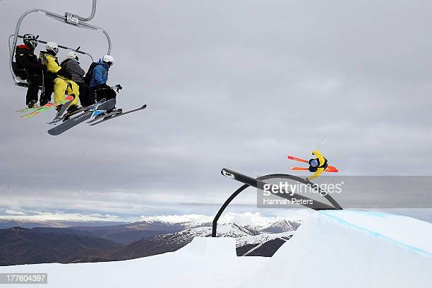 Russell Henshaw of Australia competes in the FIS Freestyle Ski Slopestyle World Cup Finals during day 11 of the Winter Games NZ at Cardrona Alpine...