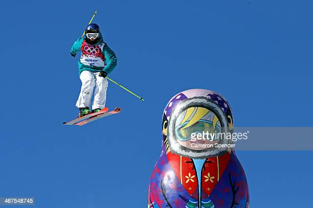 Russell Henshaw of Australia trains during a Ski Slopestyle official training session ahead of the the Sochi 2014 Winter Olympics at Rosa Khutor...