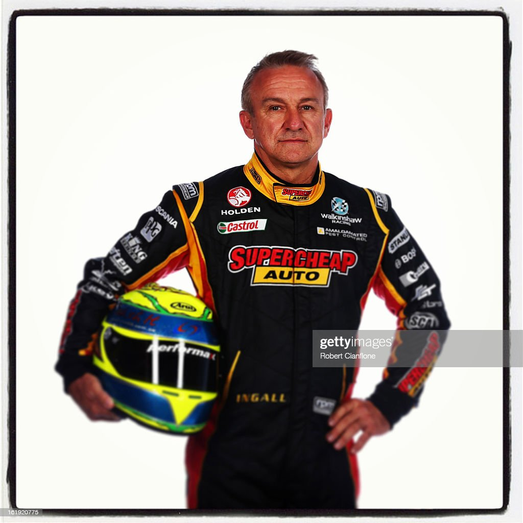 Russell Ingall of SuperCheap Auto Racing poses during a V8 Supercars driver portrait session at Eastern Creek on February 15, 2013 in Sydney, Australia.