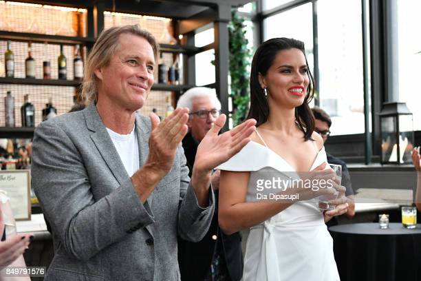 Russell James and Adriana Lima attend the 'American Beauty Star' premiere at Gramercy Terrace at The Gramercy Park Hotel on September 19 2017 in New...