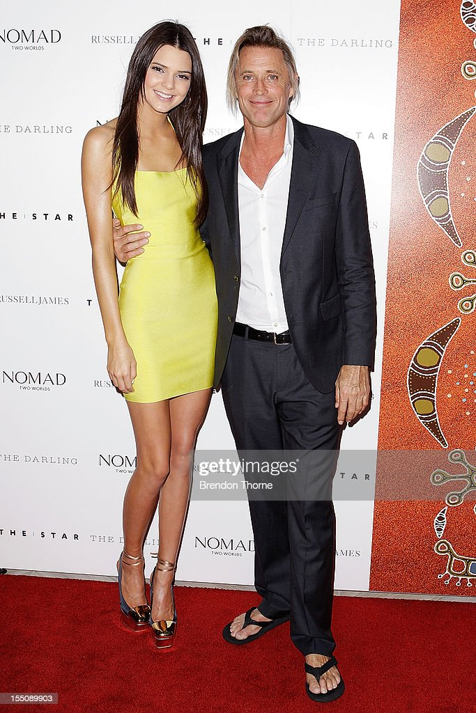 Russell James and Kendall Jenner arrive at the book launch of 'Nomad Two Worlds' by Russell James on November 1, 2012 in Sydney, Australia.