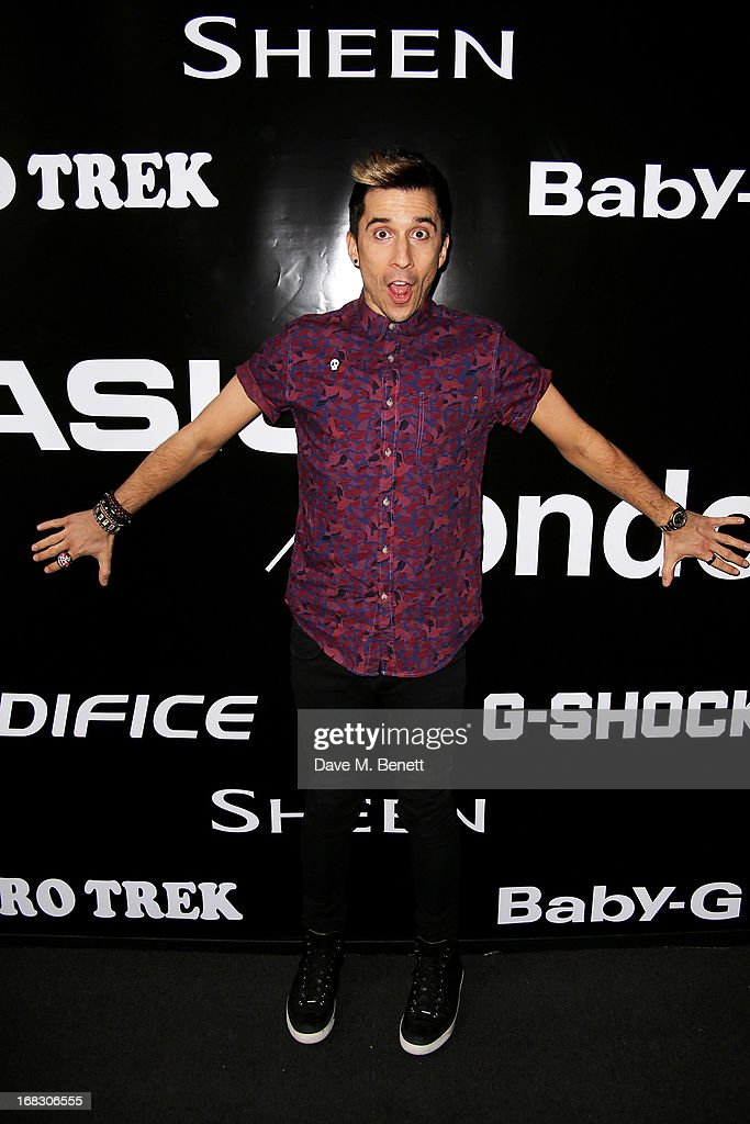 <a gi-track='captionPersonalityLinkClicked' href=/galleries/search?phrase=Russell+Kane&family=editorial&specificpeople=6213345 ng-click='$event.stopPropagation()'>Russell Kane</a> attends as Casio London celebrate the 1st birthday of their Covent Garden store on May 8, 2013 in London, England.