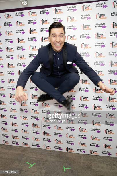 Russell Kane backstage at Absolute Radio Live in aid of Stand Up To Cancer at London Palladium on November 26 2017 in London England