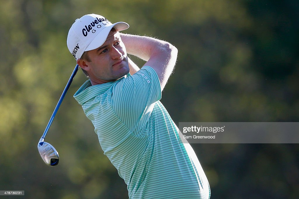Russell Knox of Scotland hits a shot on the 17th hole during the second round of the Valspar Championship at Innisbrook Resort and Golf Club on March 14, 2014 in Palm Harbor, Florida.