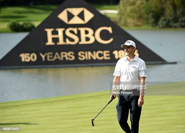 Russell Knox of Scotland on the par four 9th hole during the second round of the WGC HSBC Champions at the Sheshan International Golf Club on...