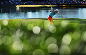 Russell Knox of Scotland plays his shot from the 17th tee during the third round of THE PLAYERS Championship at the Stadium course at TPC Sawgrass on...