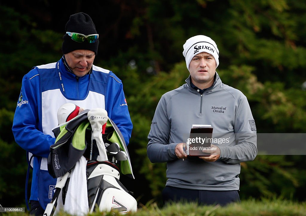 <a gi-track='captionPersonalityLinkClicked' href=/galleries/search?phrase=Russell+Knox&family=editorial&specificpeople=7657969 ng-click='$event.stopPropagation()'>Russell Knox</a> of Scotland prepares to play his tee shot on the 11th hole during round three of the AT&T Pebble Beach National Pro-Am at Monterey Peninsula Country Club (Shore Course) on February 13, 2016 in Pebble Beach, California.
