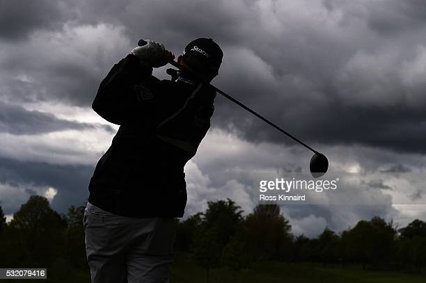 Russell Knox of Scotland tees off during a ProAm round ahead of the Irish Open at The K Club on May 18 2016 in Straffan Ireland