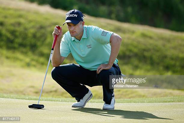 Russell Knox of Scotland waits on the 16th green during the first round of the World Golf ChampionshipsDell Match Play at the Austin Country Club on...