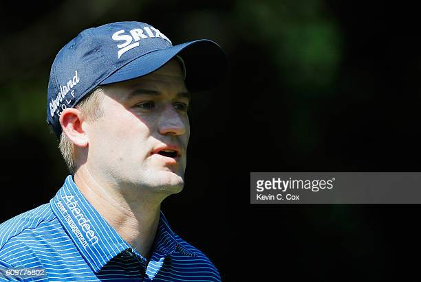 Russell Knox of Scotland walks on the second hole during the first round of the TOUR Championship By CocaCola at East Lake Golf Club on September 22...