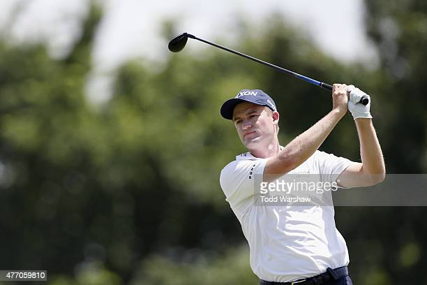 Russell Knox tees off on the 9th hole during round three of the FedEx St Jude Classic at TPC Southwind on June 13 2015 in Memphis Tennessee