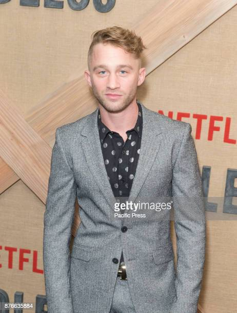 Russell Lewis attends Netflix Godless premiere at Metrograph