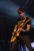 Russell Lissack of Bloc Party performs on stage at Tonhalle on November 15 2012 in Munich Germany