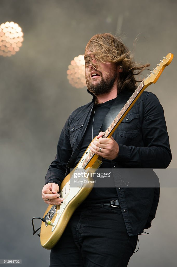 Russell Marsden from Band of Skulls performs on The Other Stage, Glastonbury Festival 2016 at Worthy Farm, Pilton on June 25, 2016 in Glastonbury, England.