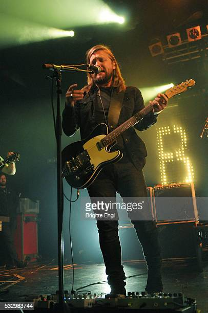Russell Marsden of Band of Skulls perform at Electric Ballroom on May 19 2016 in London England