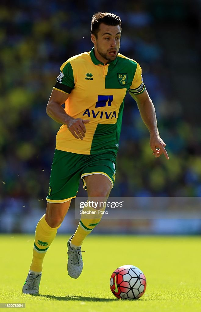 Russell Martin of Norwich City during the Barclays Premier League match between Norwich City and Stoke City at Carrow Road on August 22 2015 in...