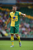 Russell Martin of Norwich City in action during the pre season friendly match between Norwich City and Brentford at Carrow Road on August 1 2015 in...