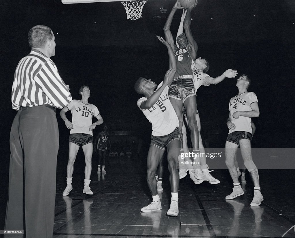 Bill Russell Blocking Tom Gola