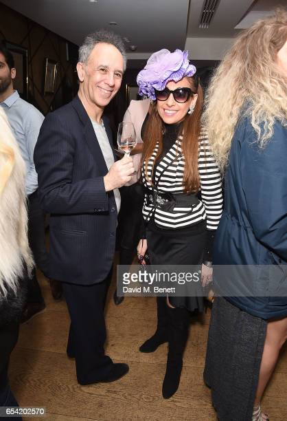 Russell Rose and Tracy Rose attend the ICONIC PR LND and PerrierJouët art presention of works by Picasso Miro Matisse Chagall at QP LDN on March 16...