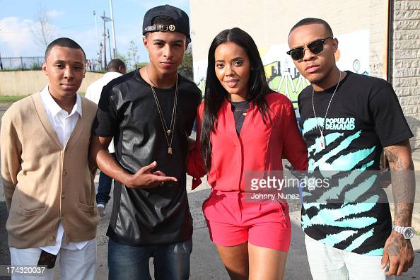 Russell 'Russy' Simmons Diggy Simmons Angela Simmons and Bow Wow attend Angela Simmons' Boys Girls Club Event at Boys Girls Club on July 23 2013 in...
