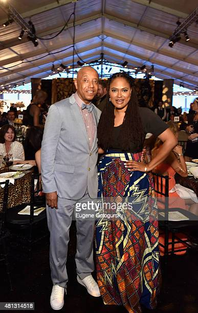 Russell Simmons and Ava DuVernay attend as RUSH Philanthropic Arts Foundation Celebrates 20th Anniversary at Art For Life sponsored by Bombay...