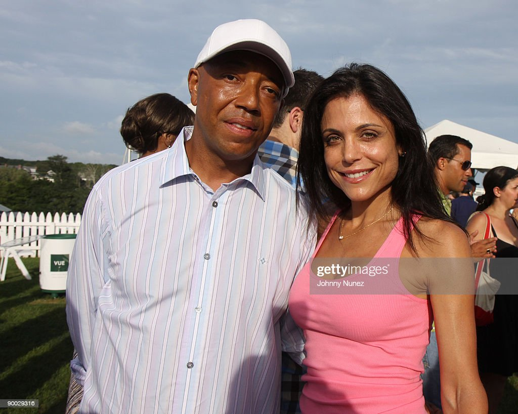 Russell Simmons and Bethenny Frankel attend the closing day of the Mercedes-Benz Polo Challenge at Blue Star Jets Field at Two Trees Farm on August 22, 2009 in Bridgehampton, New York.