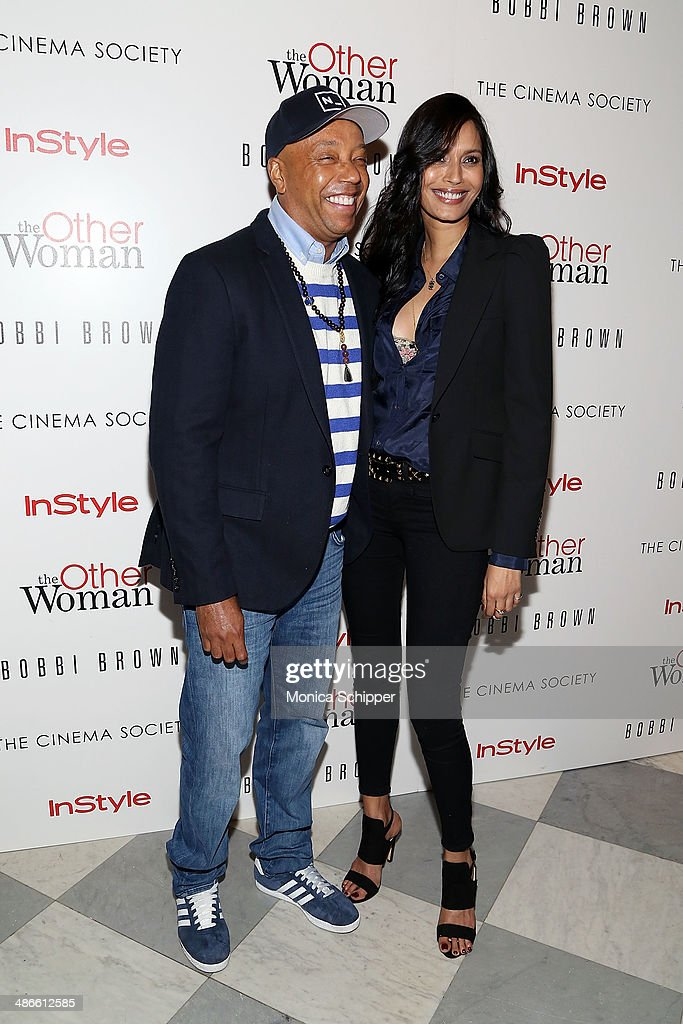 <a gi-track='captionPersonalityLinkClicked' href=/galleries/search?phrase=Russell+Simmons&family=editorial&specificpeople=202479 ng-click='$event.stopPropagation()'>Russell Simmons</a> (L) and guest attend The Cinema Society & Bobbi Brown with InStyle screening of 'The Other Woman' at The Paley Center for Media on April 24, 2014 in New York City.