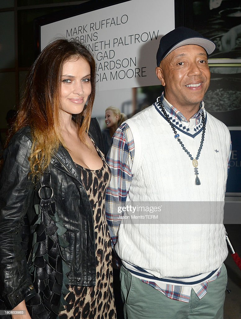 <a gi-track='captionPersonalityLinkClicked' href=/galleries/search?phrase=Russell+Simmons&family=editorial&specificpeople=202479 ng-click='$event.stopPropagation()'>Russell Simmons</a> (R) and <a gi-track='captionPersonalityLinkClicked' href=/galleries/search?phrase=Hana+Nitsche&family=editorial&specificpeople=4595447 ng-click='$event.stopPropagation()'>Hana Nitsche</a> attend the premiere of Roadside Attractions' 'Thanks For Sharing' at ArcLight Cinemas on September 16, 2013 in Hollywood, California.