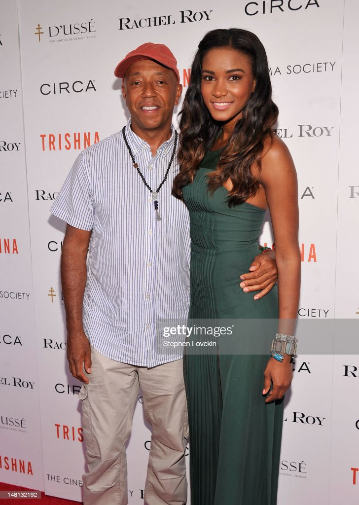 Russell Simmons and Leila Lopes attend The Cinema Society With Rachel Roy Circa Host A Screening Of 'Trishna' at IFC Center on July 10 2012 in New...