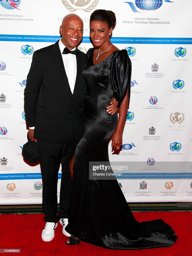 Russell Simmons and Miss Universe 2011 Leila Lopes attend the 2012 SouthSouth Awards at The Waldorf=Astoria on September 23 2012 in New York City