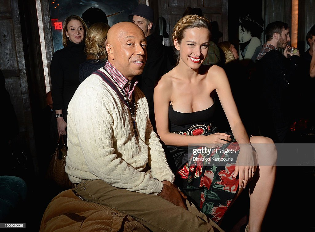 <a gi-track='captionPersonalityLinkClicked' href=/galleries/search?phrase=Russell+Simmons&family=editorial&specificpeople=202479 ng-click='$event.stopPropagation()'>Russell Simmons</a> and <a gi-track='captionPersonalityLinkClicked' href=/galleries/search?phrase=Petra+Nemcova&family=editorial&specificpeople=201716 ng-click='$event.stopPropagation()'>Petra Nemcova</a> attend the La Perla After Party Hosted By DeLeon Tequila at The Electric Room on February 7, 2013 in New York City.