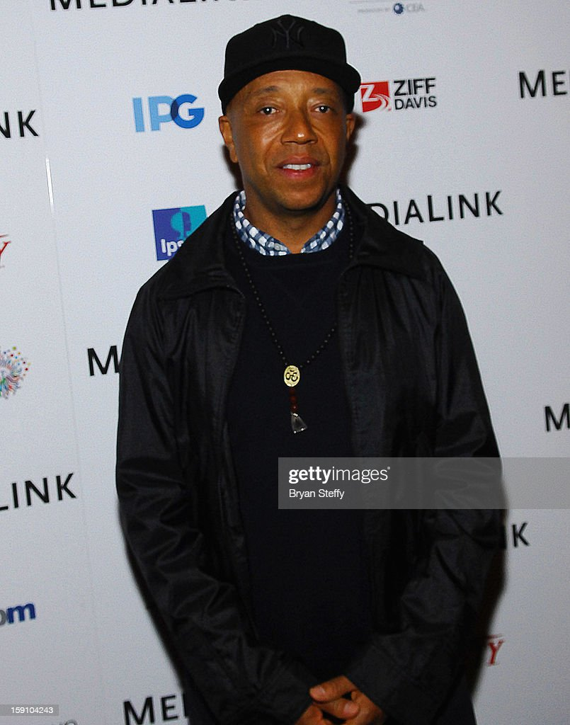 Russell Simmons arrives at the MediaLink CES Kickoff event at the Tryst nightclub at Wynn Las Vegas on January 7, 2013 in Las Vegas, Nevada.