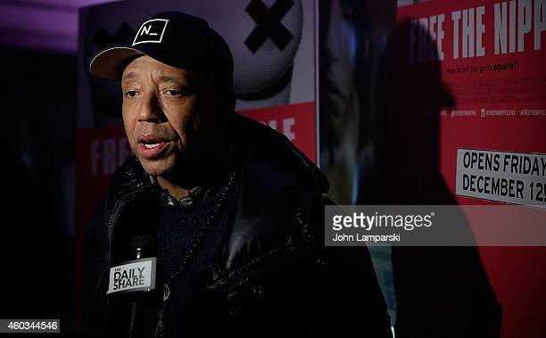Russell Simmons attends 'Free The Nipple' New York Premiere at IFC Center on December 11 2014 in New York City