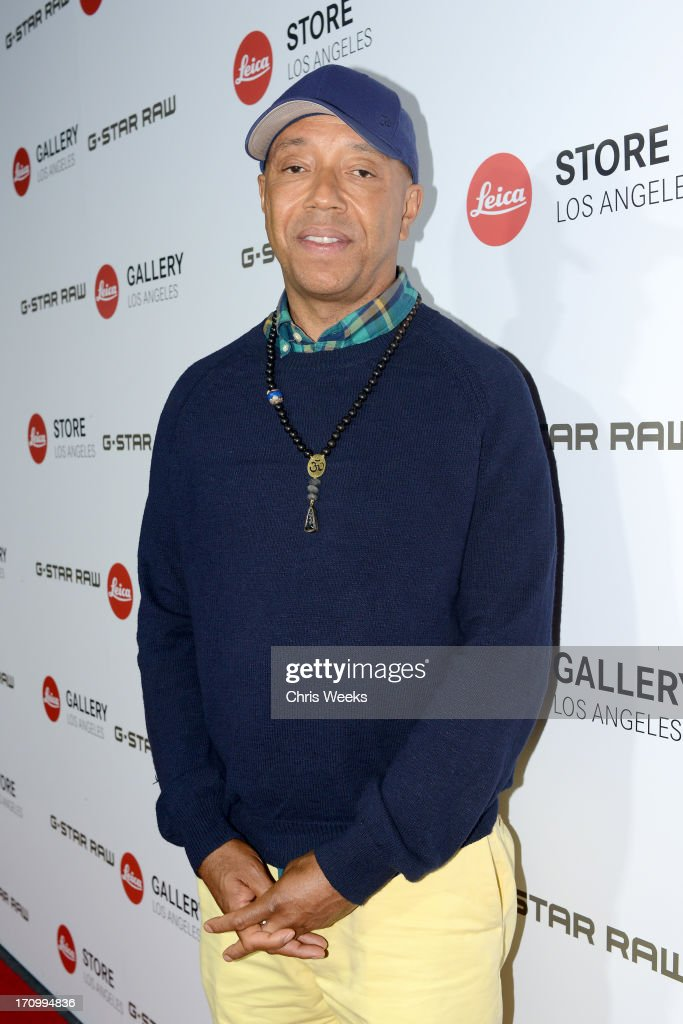 <a gi-track='captionPersonalityLinkClicked' href=/galleries/search?phrase=Russell+Simmons&family=editorial&specificpeople=202479 ng-click='$event.stopPropagation()'>Russell Simmons</a> attends G-Star RAW unveils RAW Leica at the Leica store opening on June 20, 2013 in West Hollywood, California.