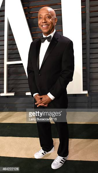 Russell Simmons attends the 2015 Vanity Fair Oscar Party hosted by Graydon Carter at the Wallis Annenberg Center for the Performing Arts on February...