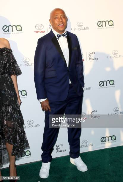 Russell Simmons attends the 27th Annual EMA Awards at Barker Hangar on September 23 2017 in Santa Monica California